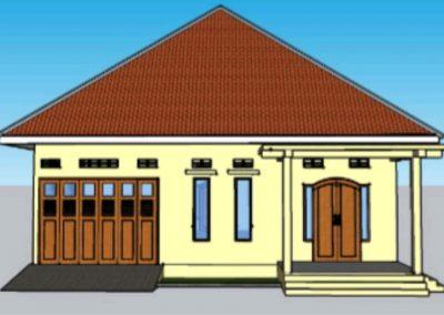 Desain Bangunan Rumah Karya Siswa Menggunakan Sketchup