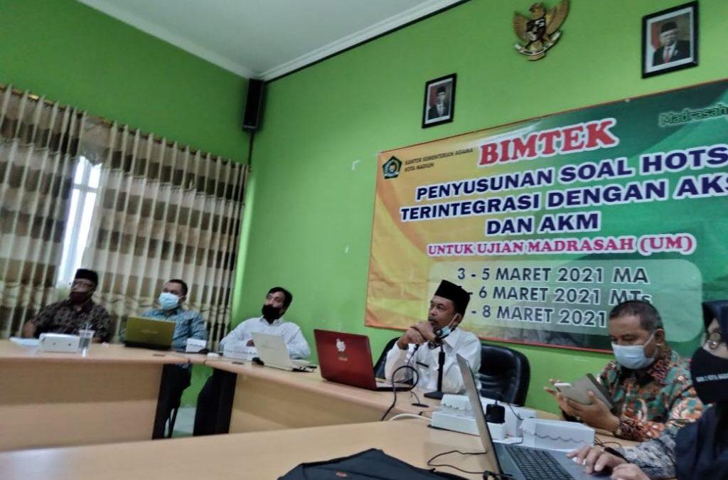 Guru MAN 1 Kota Madiun Ikuti Bimtek Penyusunan Soal HOTS