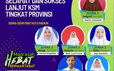 6 Siswa MAN 1 Kota Madiun Raih Juara KSM di Tingkat Kota Madiun